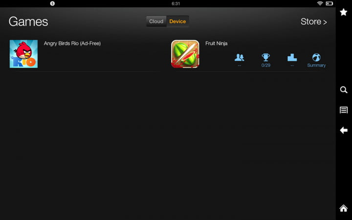amazon kindle fire hd  review screenshot device games