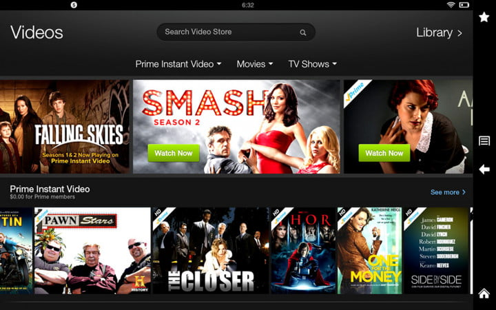 amazon kindle fire hd  review screenshot video library