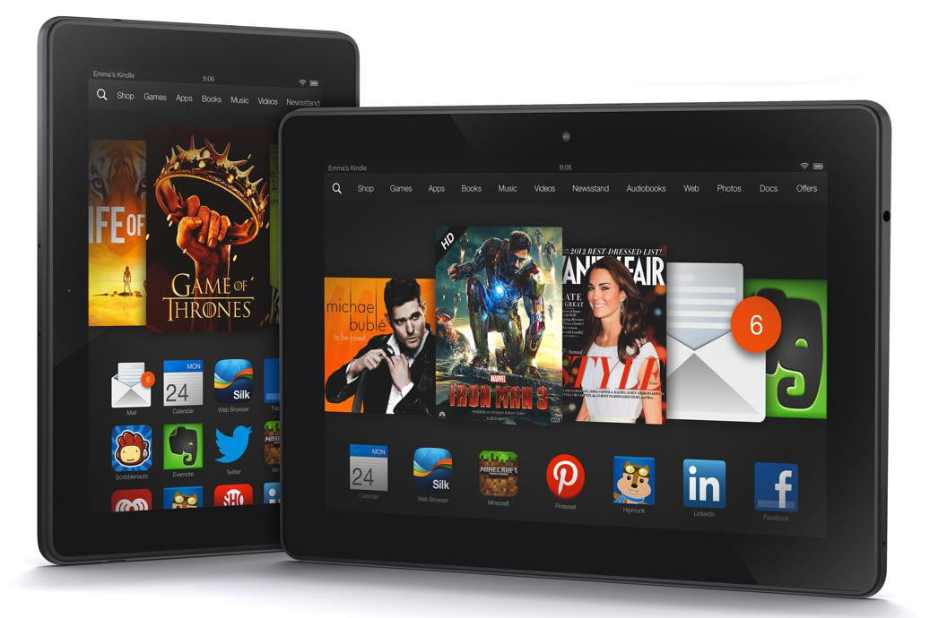 amazon unveils new kindle fire hdx tablets