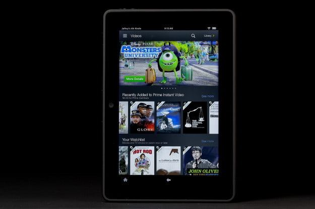 Kindle Fire HDX front videos