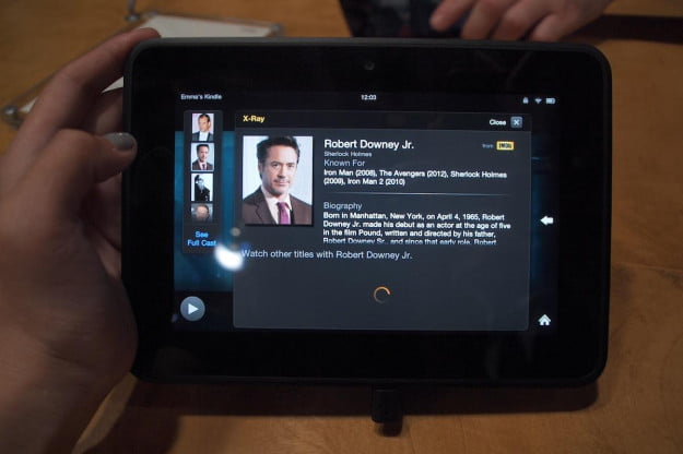 Kindle Fire X-Ray movies