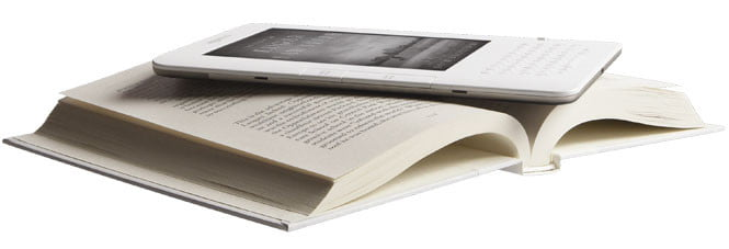 Amazon Kindle 2 on Book