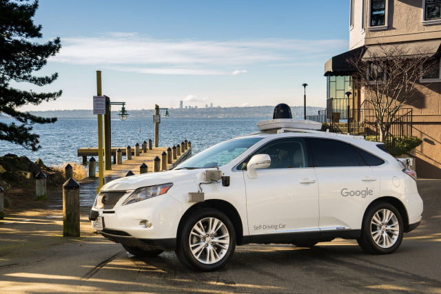 london google driverless car self driving lexus rx  h in kirkland washington