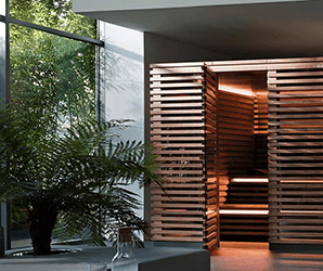 Behold! This cabinet transforms into a full-size, sensuously steamy sauna