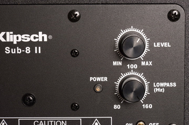klipsch hd theater  review subwoofer amp panel macro