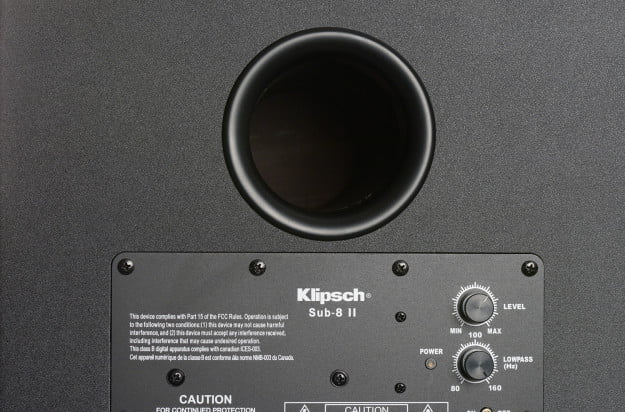 klipsch hd theater 600 subwoofer back macro