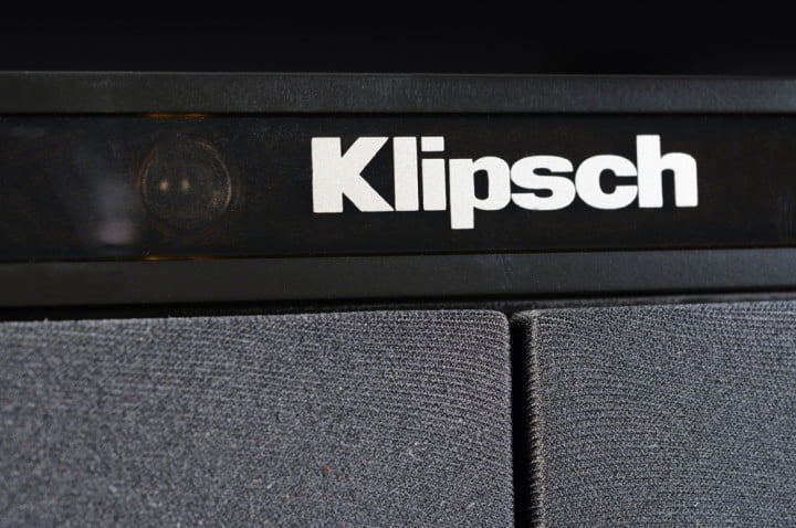 klipsch hd theater sb  review soundbar logo