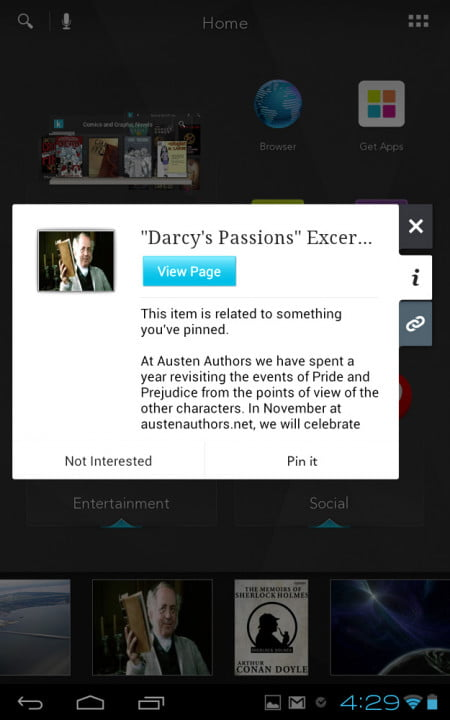 kobo arc review screenshot media information popout