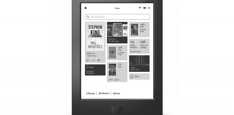 kobo aura h  review press image