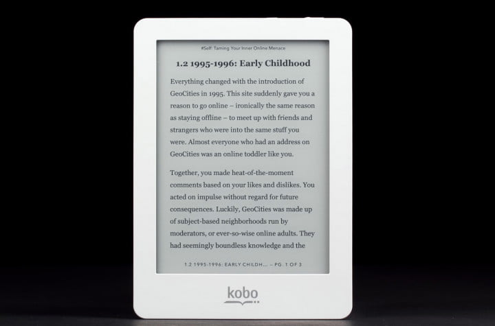 kobo glo review ereader  inch pearl eink touchscreen