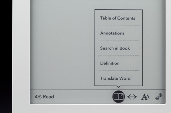 kobo glo review e reader pearl ink touchscreen reading settings