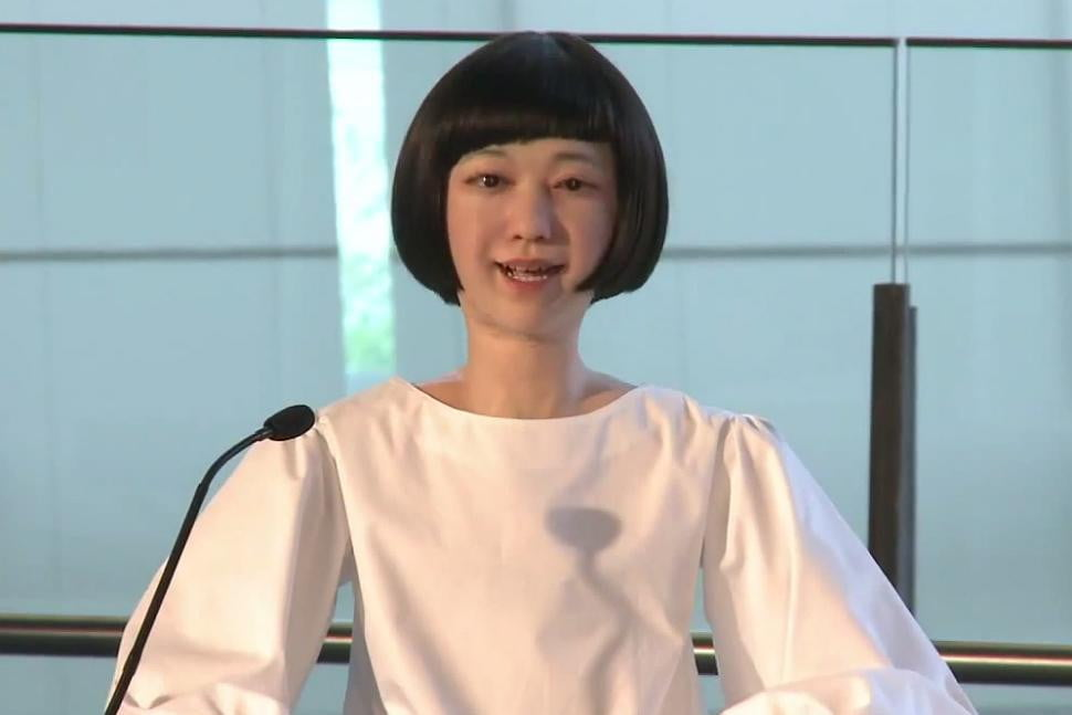 news reading robot shouldnt many newscasters fearing job kodomoroid android