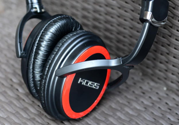 koss striva pro review headphones earcup angle
