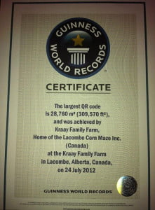 Kraay QR code Guiness World Record