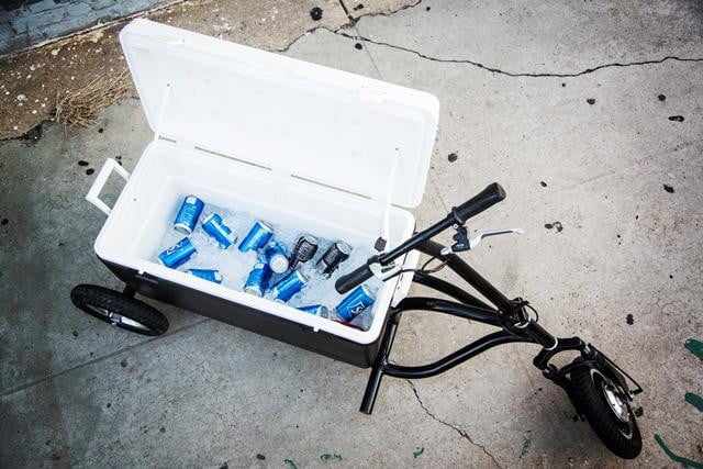 move coolest cooler krewser ice chest can drive around