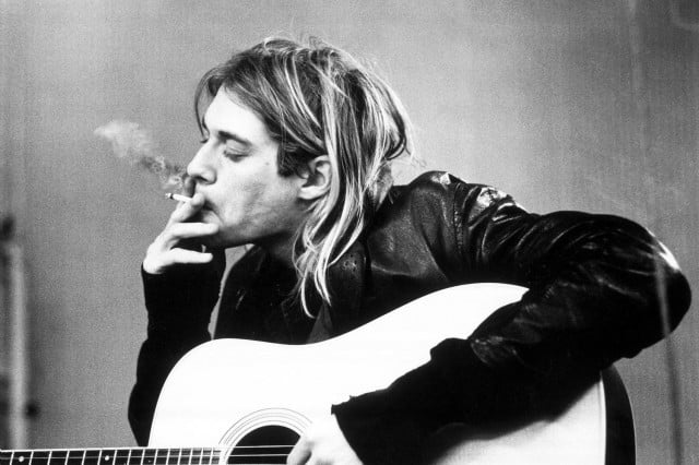nirvanas smells like teen spirit named most iconic song kurtcobain  frances bean cobain