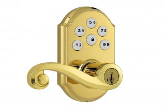 Kwikset SmartCode Lever with Home Connect Technology featuring Z Wave