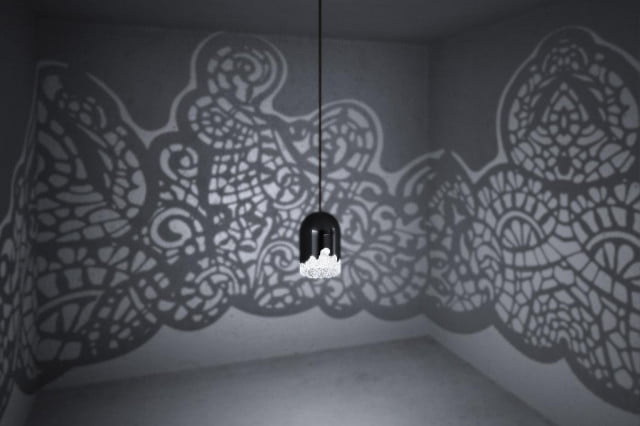 d printed lacelamps throw wild shadow patterns onto walls lacelamp