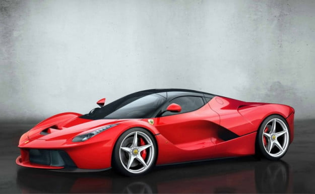 LaFerrari 3/4 angle shot red