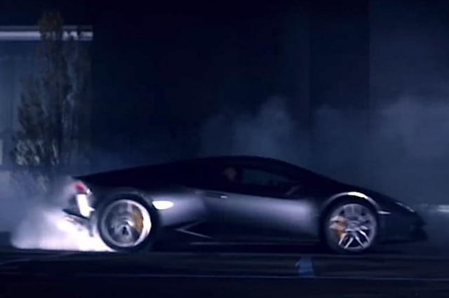 lamborghini releases teaser video amazing huracan donuts