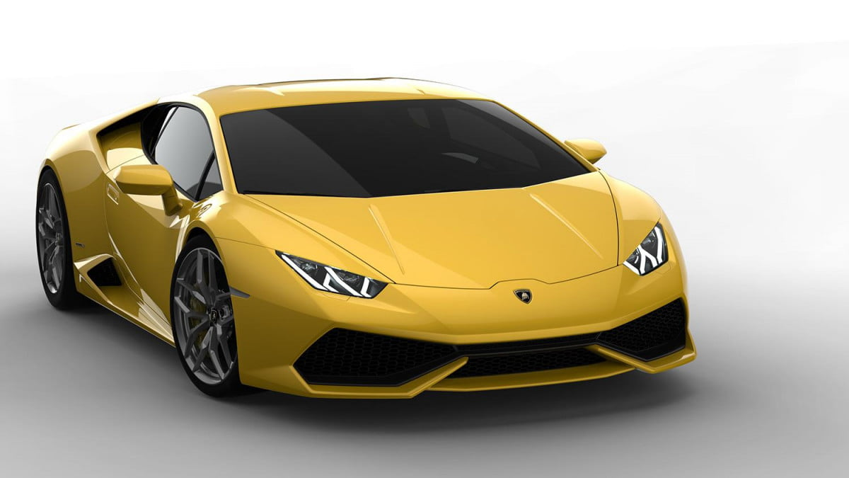 lamborghini huracan attracts  orders in its first month on sale exterior front right yellow