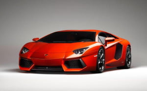Lamborghini Aventador LP700-4 front three-quarter view