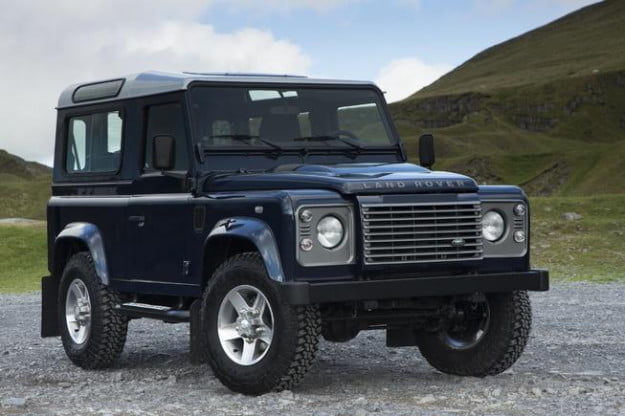 Land Rover Defender two door front three-quarter view
