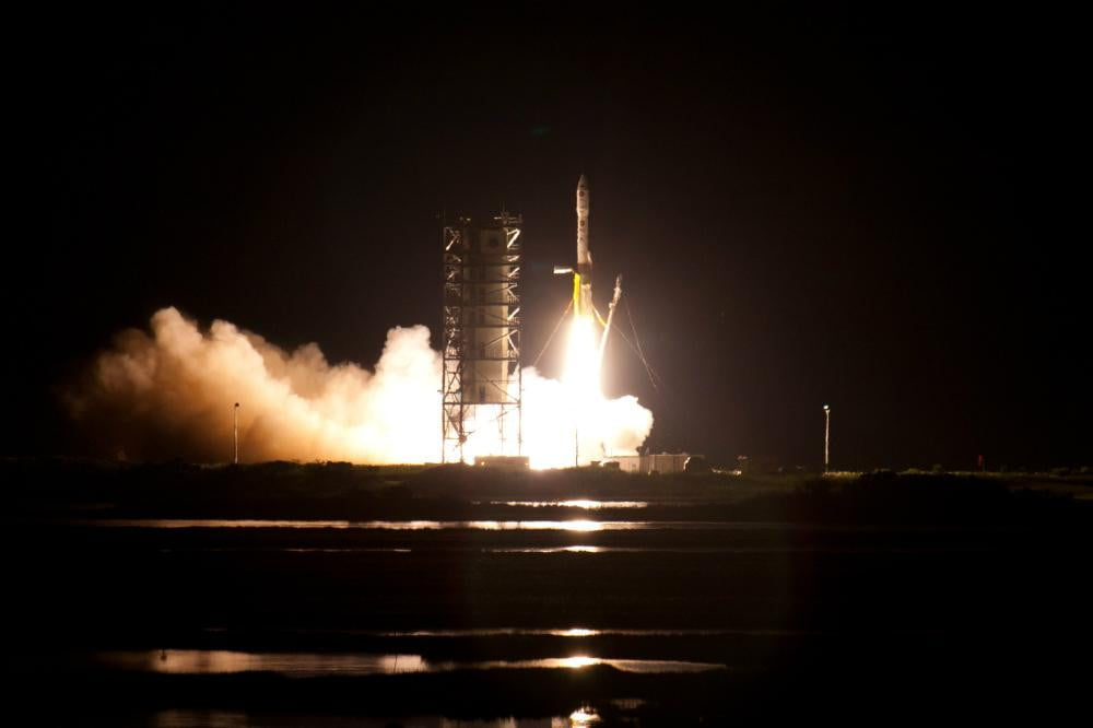 first satellite designed and built by high school sent into space launch of minotaur