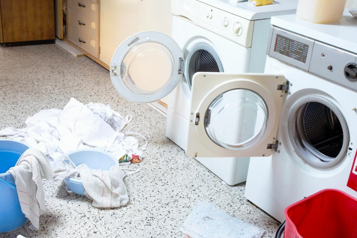 washing machines cause most fires study finds laundry room with machine and dryer
