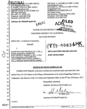 Apple Samsung lawsuit