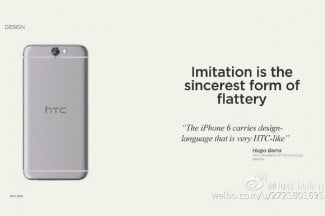 Leaked HTC One A9 Slide