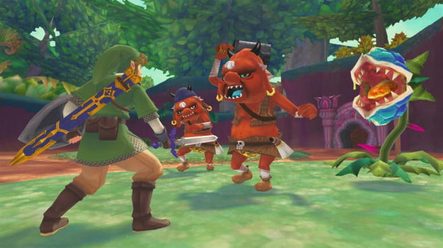 legend-of-zelda-skyward-sword-moblins-and-deku-babas
