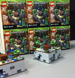 Lego Minecraft Packaging