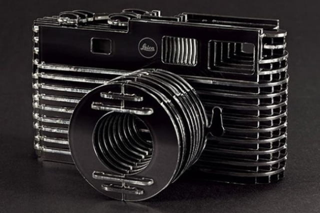 rare leica promotion is a do it yourself camera kit made of plastic