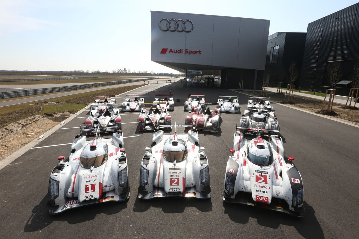 audi pulls out of the  hours le mans lemans winning race cars