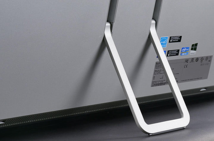 lenovo ideacentre horizon review  table pc rear stand macro