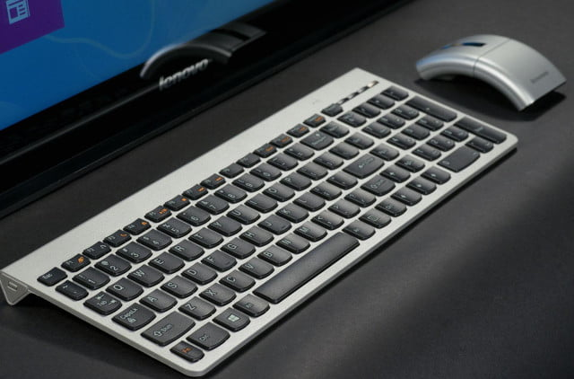 pc market contracted  percent lenovo ideacentre horizon table wireless keyboard and mouse