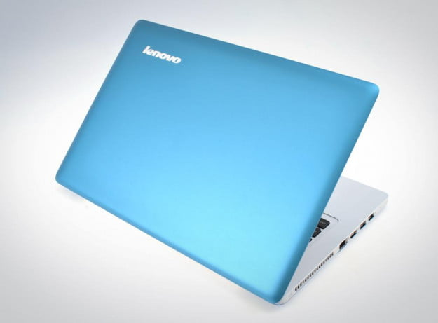 Lenovo IdeaPad U310 Review lid rear angle blue white case