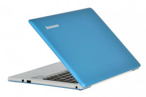 Lenovo IdeaPad U310 Review ultrabook lid open blue white shell
