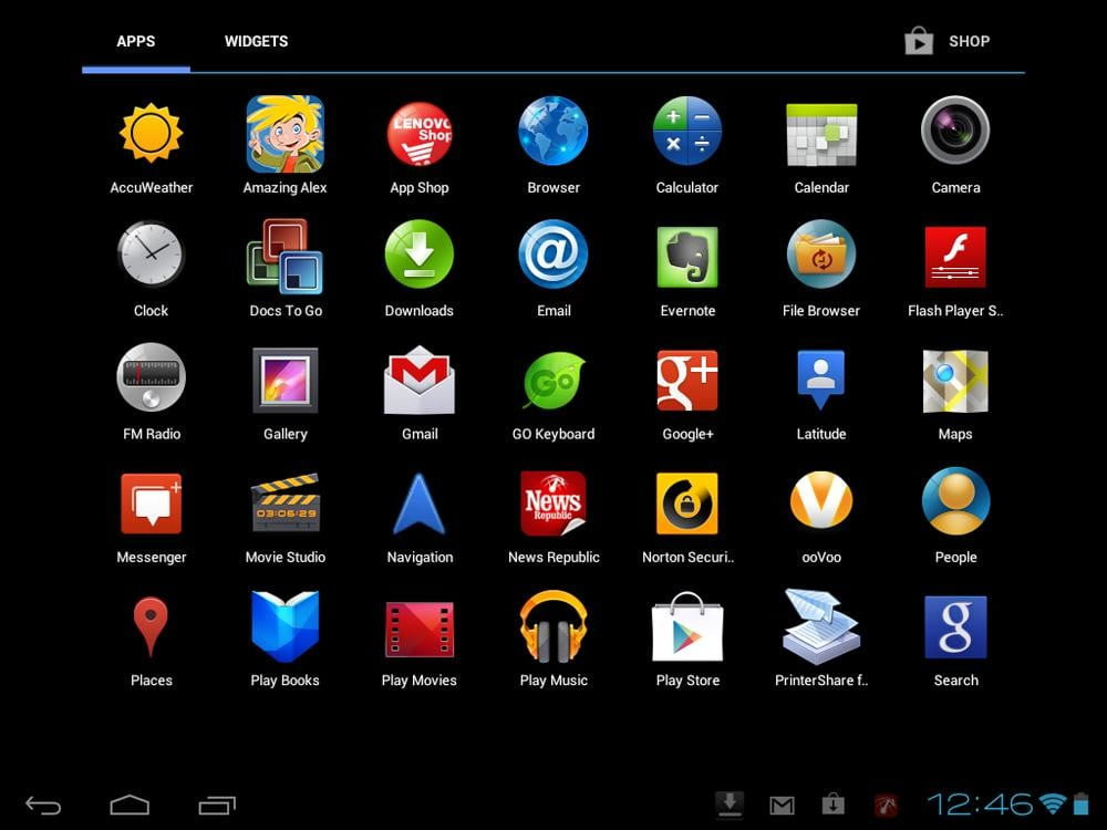 Lenovo IdeaTab S2109 review screenshot app grid android ice cream 4.0 tablet