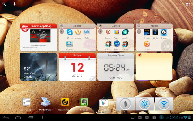 Lenovo IdeaTab S2110 review screenshot no open folder hybrid tablet