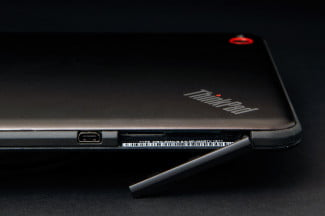 Lenovo ThinkPad 8 review tablet door open