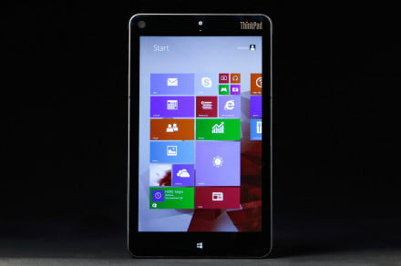 Lenovo ThinkPad 8 review tablet front 2