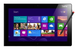 lenovo thinkpad tablet  review front press