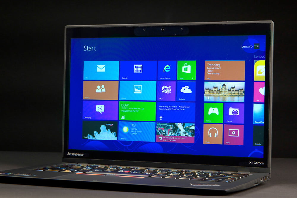 Lenovo ThinkPad X1 Carbon Touch review screen angle