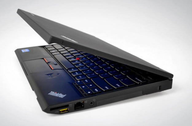 Lenovo ThinkPad X230 lid slightly open side view