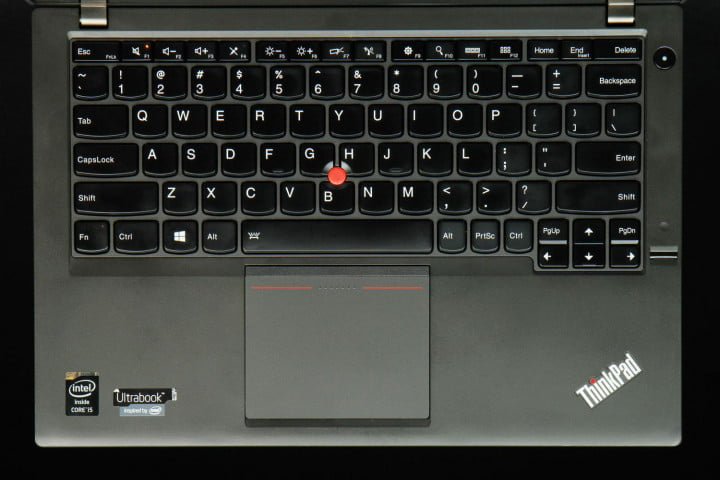 lenovo thinkpad x  review keyboard top down view