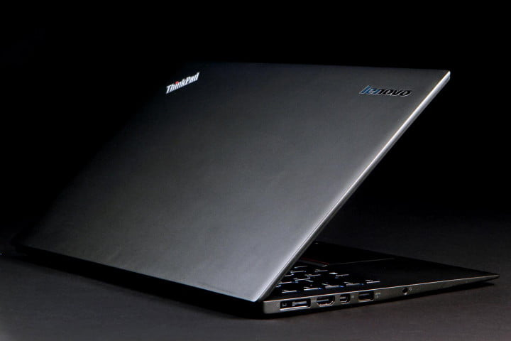 lenovo thinkpad x  carbon review front angle left