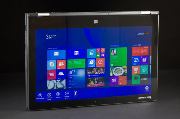Lenovo Yoga 13 review front screen