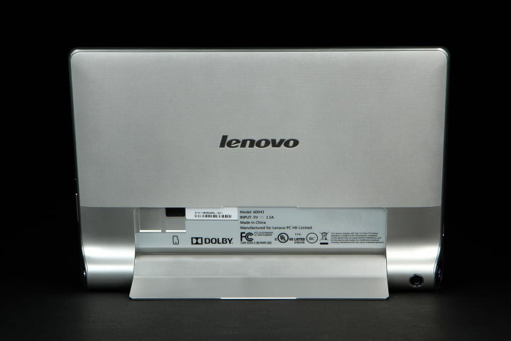 lenovo yoga tablet  review tablets back syand